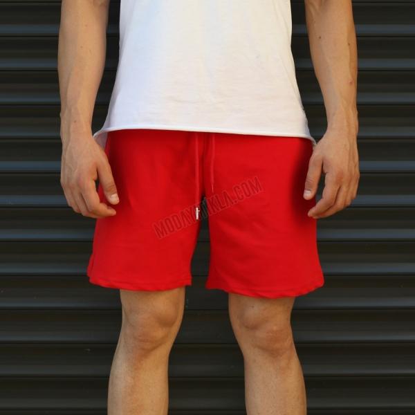 Erkek Sport Polar Kırmızı Şort