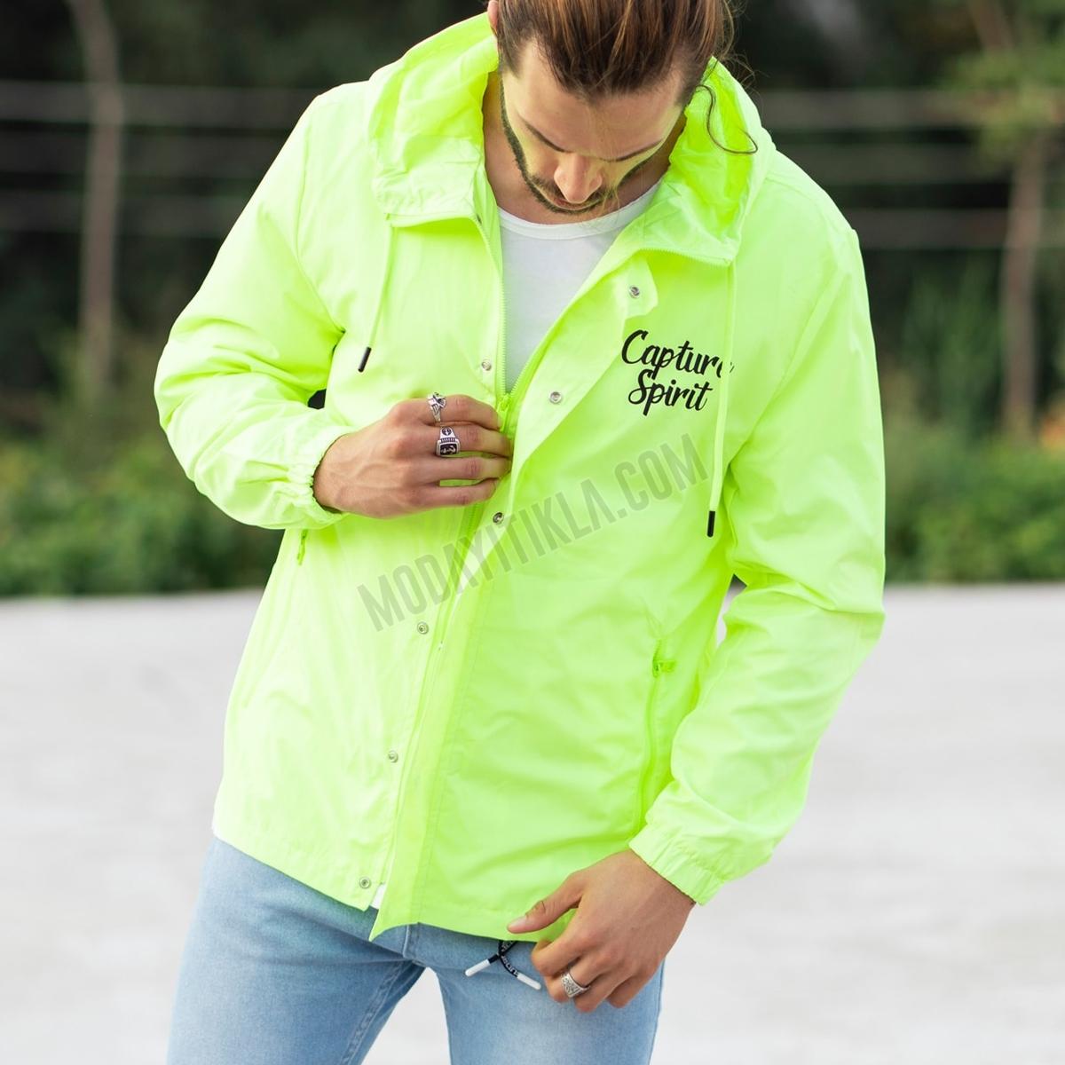 Erkek Capture Spirit Yeşil Yağmurluk