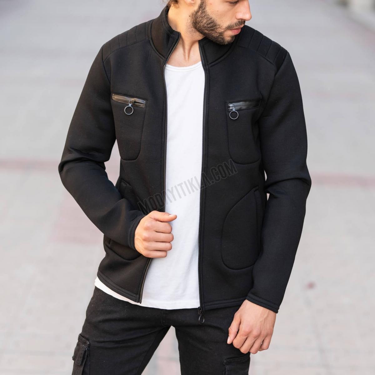 Erkek Mevsimlik Fermuar İşlemeli Ceket