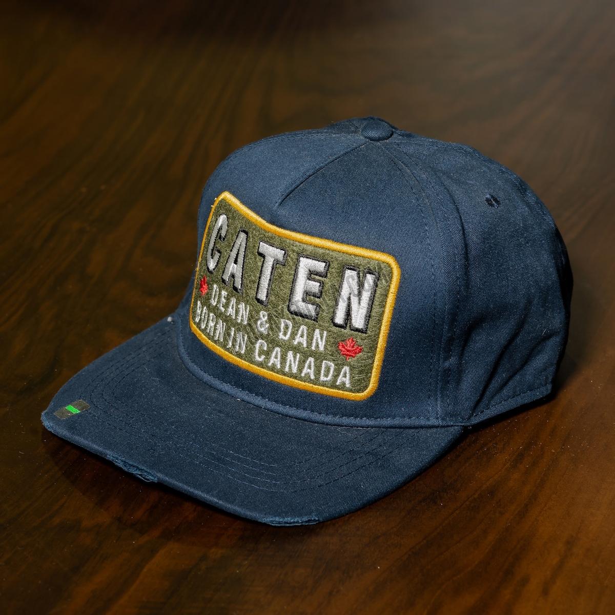 Erkek Lacivert Caten Yazılı Şapka