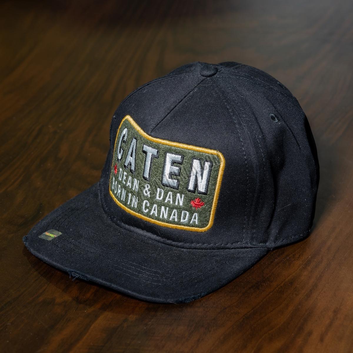 Erkek Siyah Caten Yazılı Şapka