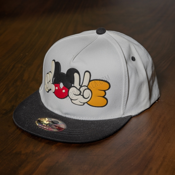 Erkek Beyaz Mickey Poke Şapka