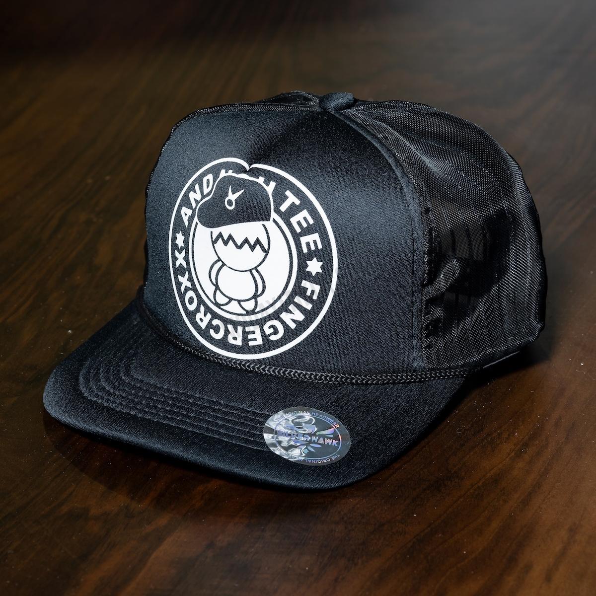 Erkek Siyah Fingercroxx Şapka