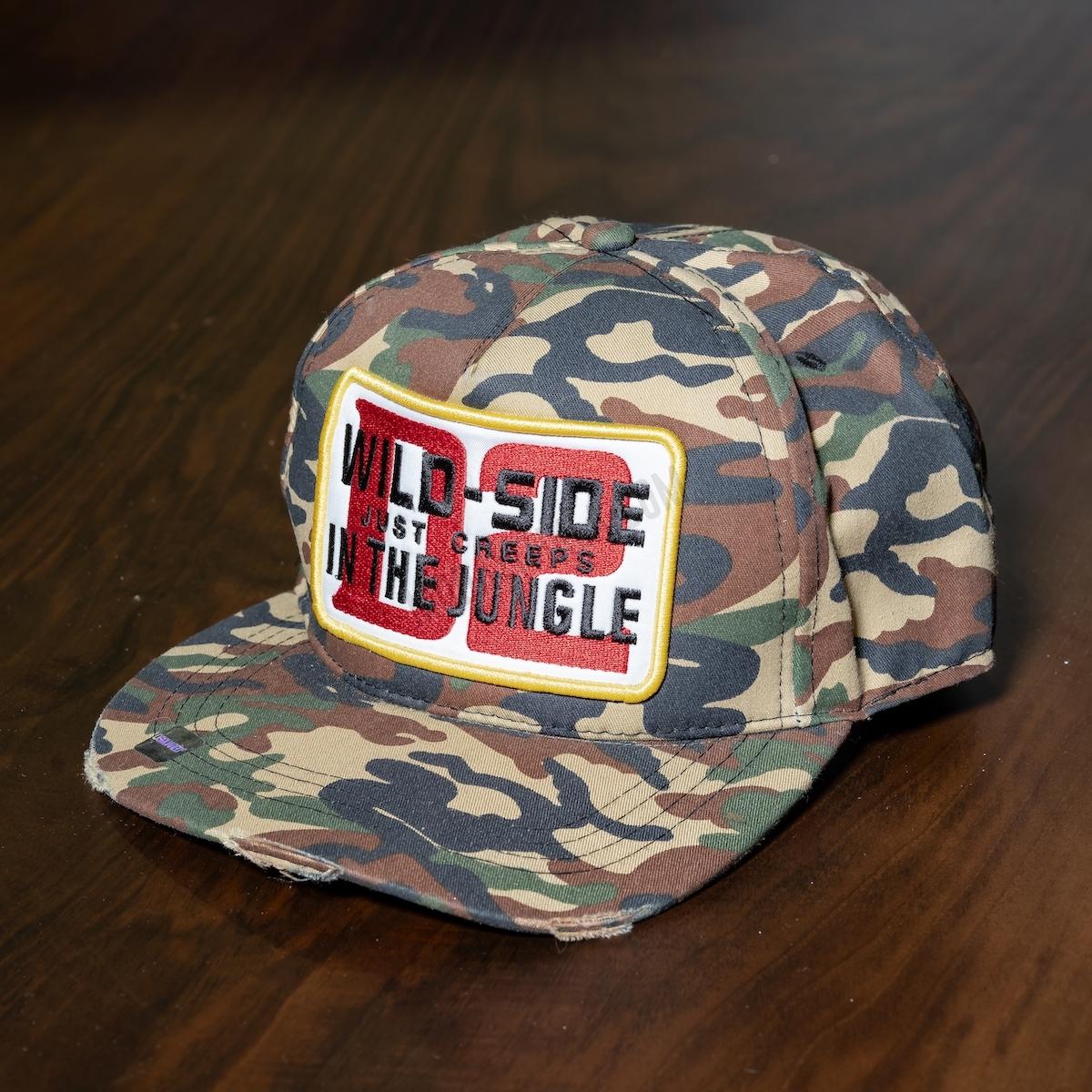 Erkek Kamuflaj Desenli Wild-Side Şapka