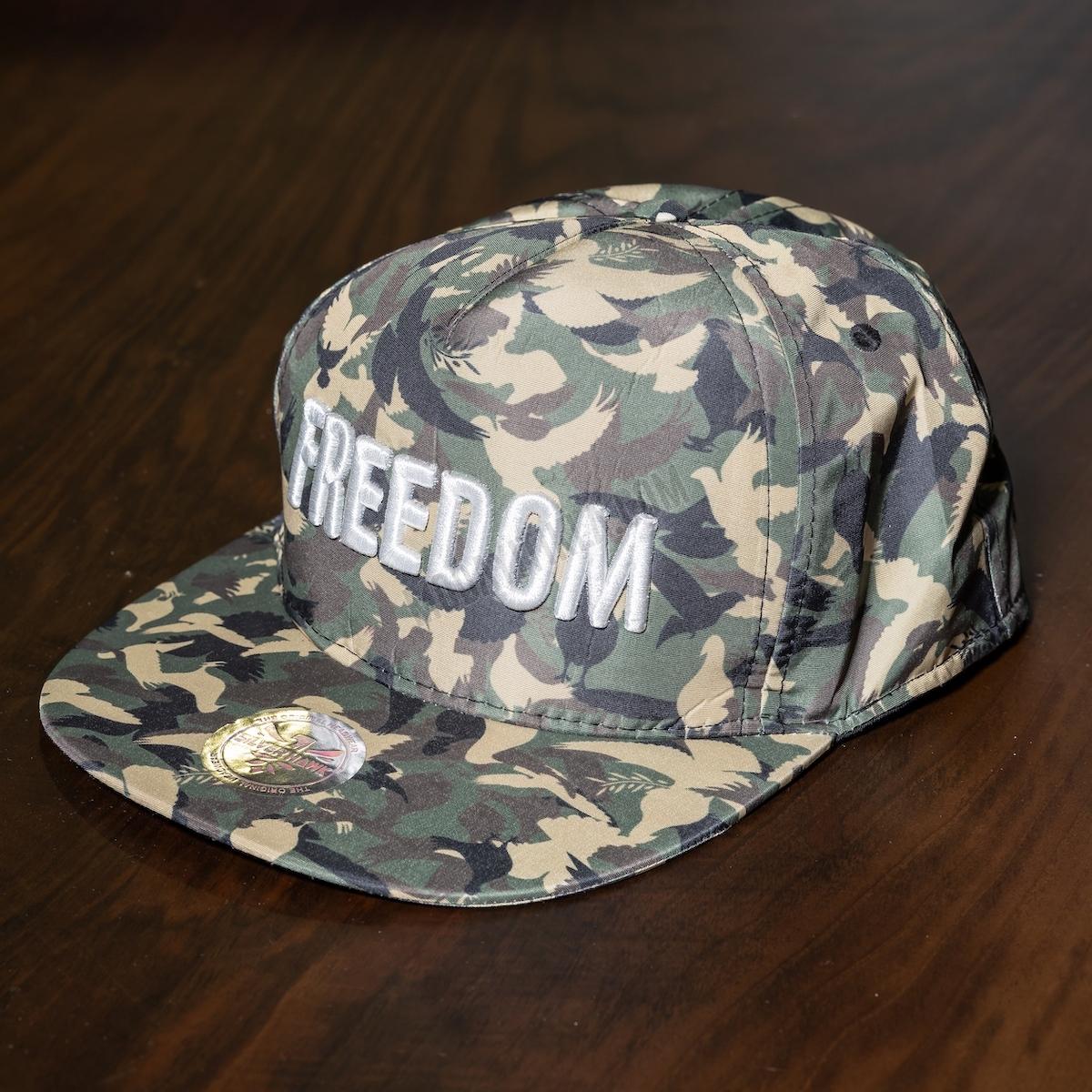 Erkek Kamuflaj Desenli Freedom Şapka
