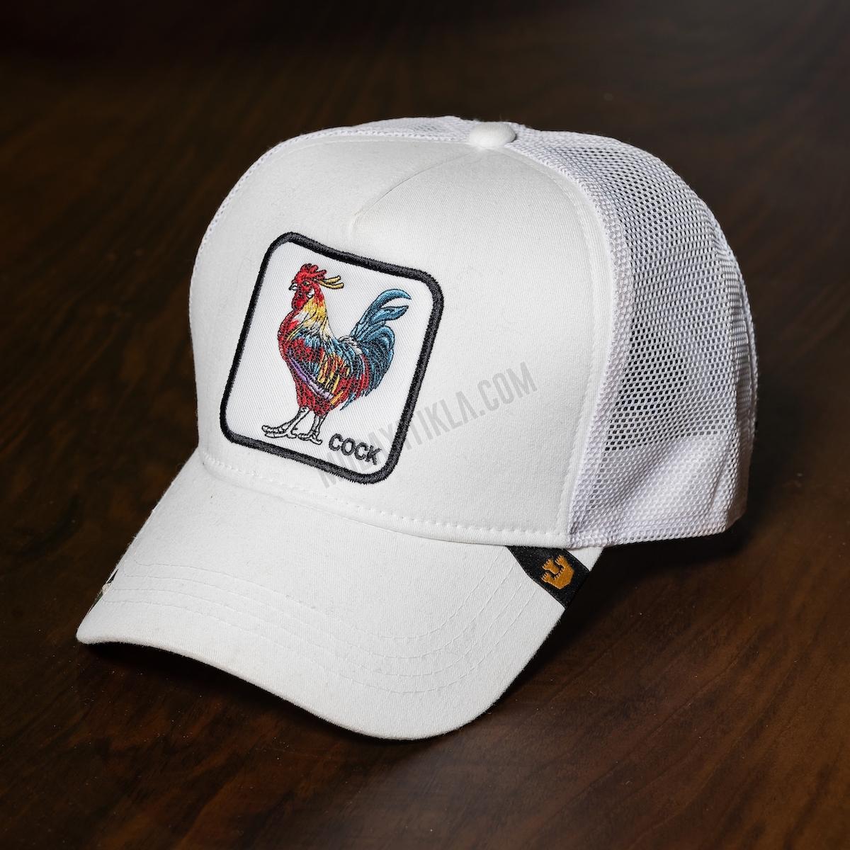 Erkek Beyaz İthal Gooring Bross Cock Şapka