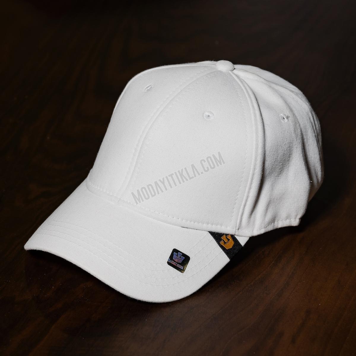 Erkek Beyaz İthal Gooring Bross Şapka