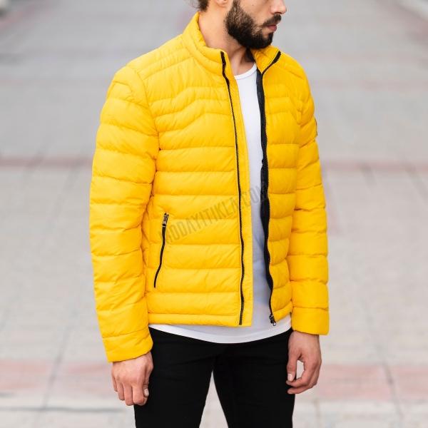 Erkek Mevsimlik Sarı Şişme...