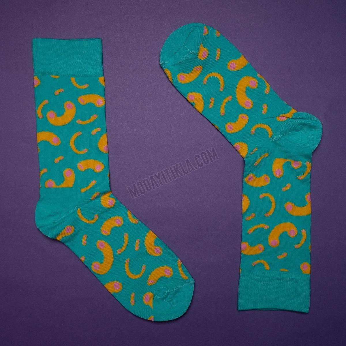 Erkek Desenli Yeşil Çorap