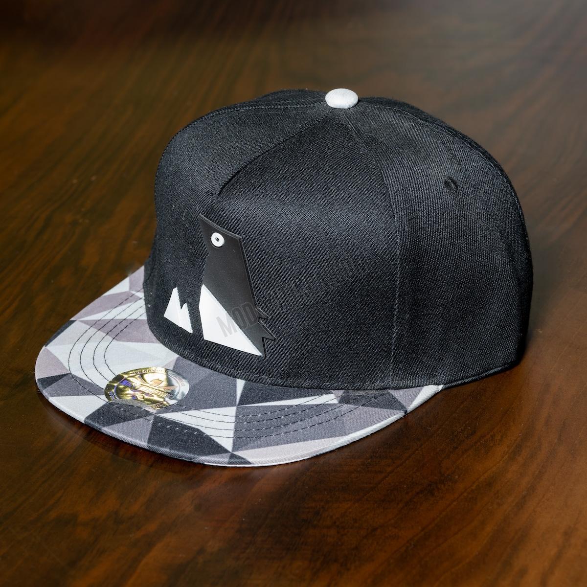 Erkek Siyah Önü Desenli Şapka