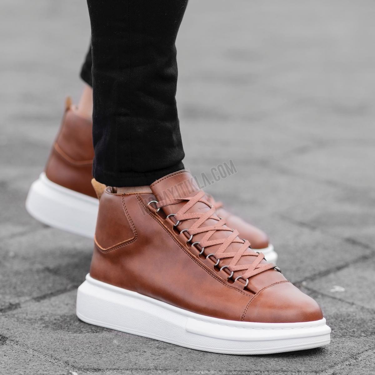 Erkek High Taba Sneaker Ayakkabı