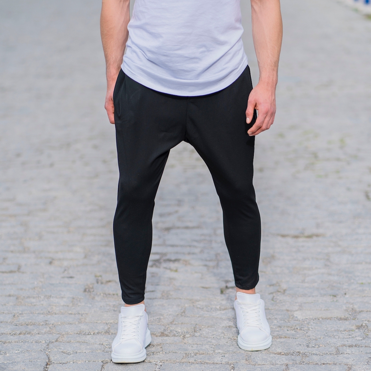 Erkek Siyah Şalvar Kumaş Pantolon