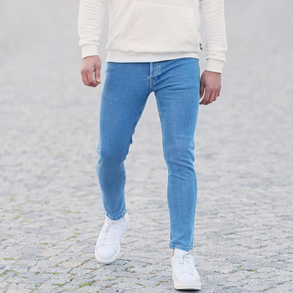 Erkek Buz Mavisi Basic Kot Pantolon