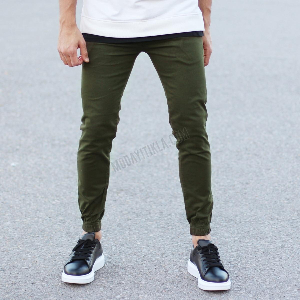 Erkek Haki Gabardin Pantolon