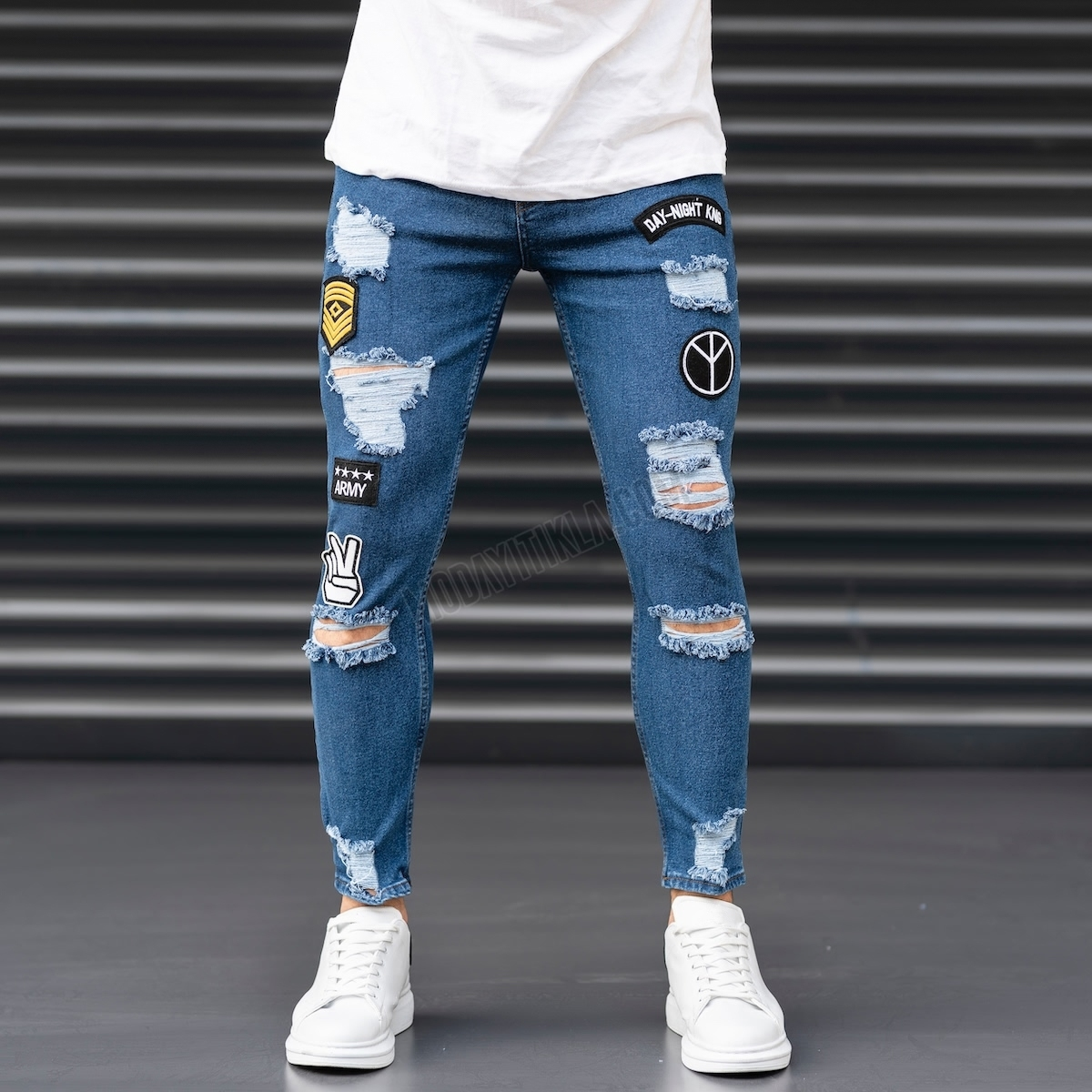 Erkek Peace Army Armalı Jeans