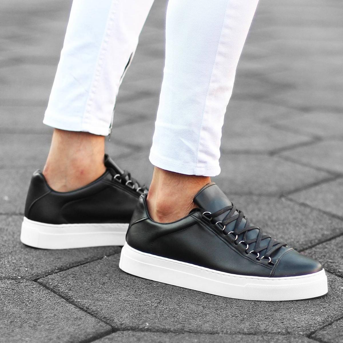 Erkek Mox High Siyah Sneaker Ayakkabı