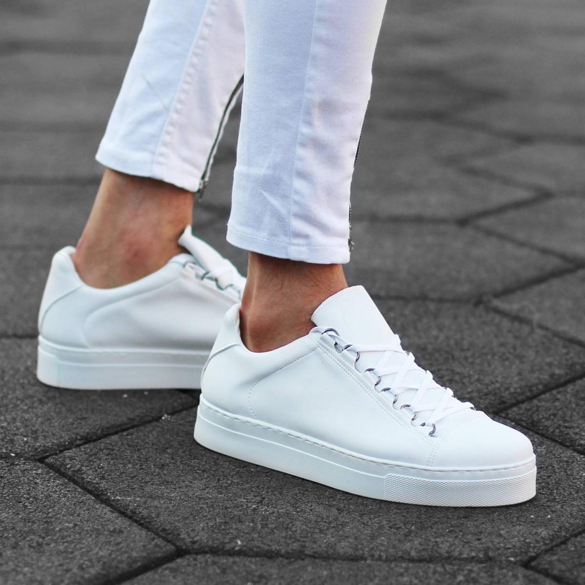 Erkek Mox High Beyaz Sneaker Ayakkabı