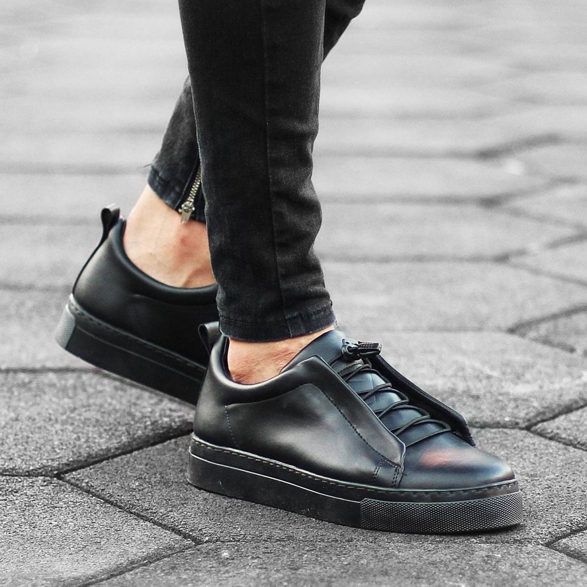 Erkek Comfy Siyah Sneaker Ayakkabı