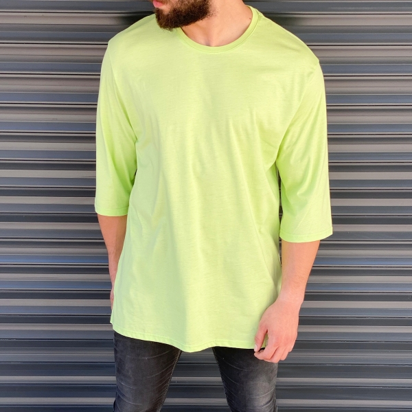 Erkek Uzun Kesim Yeşil Tişört