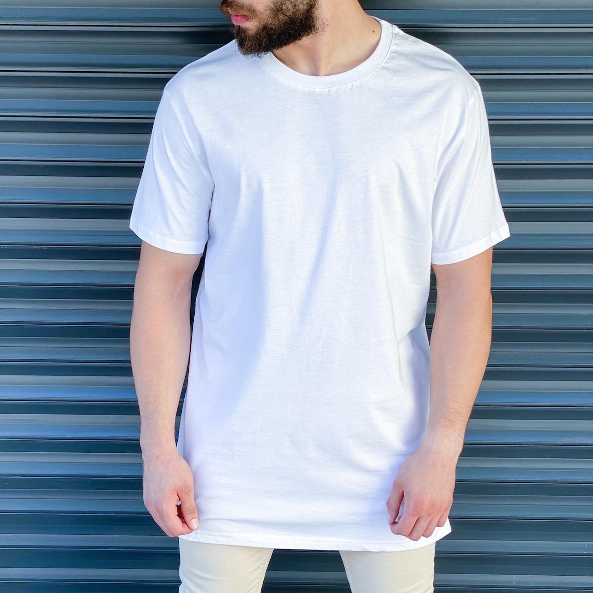 Erkek Basic Oversize Beyaz Tişört