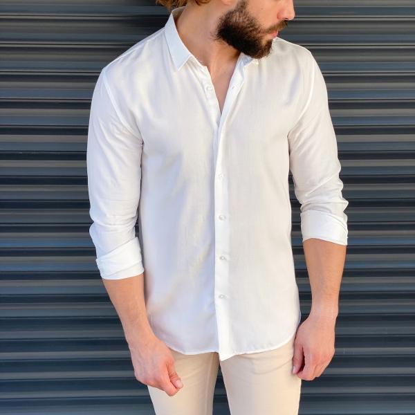 Erkek Basic Beyaz Spor Gömlek