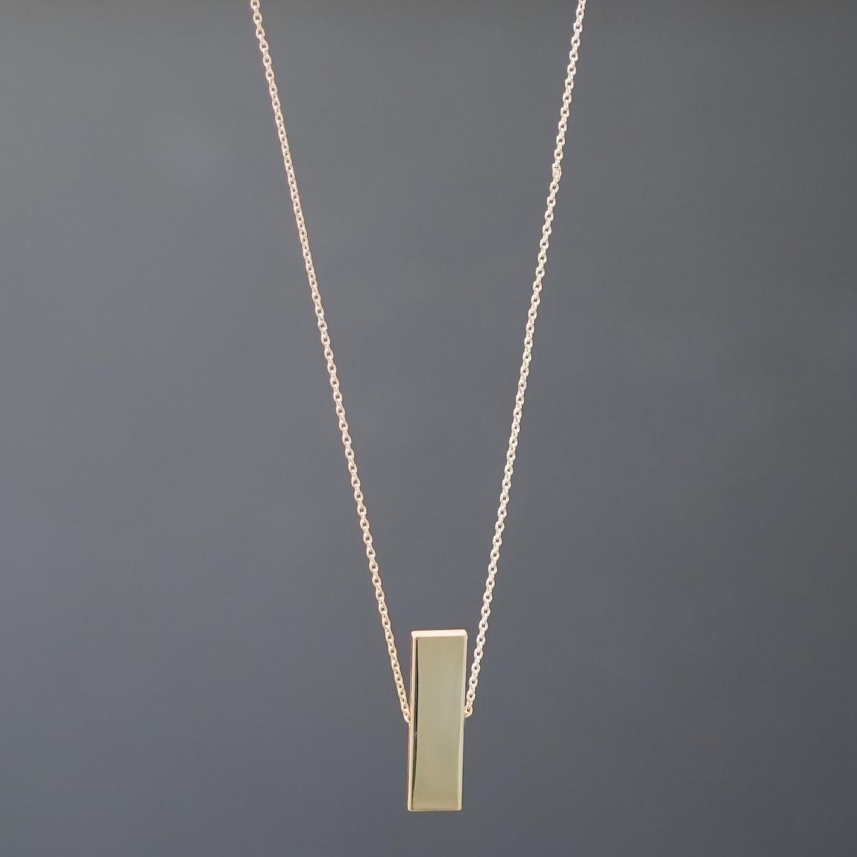 Gold Solid Uzun Kolye