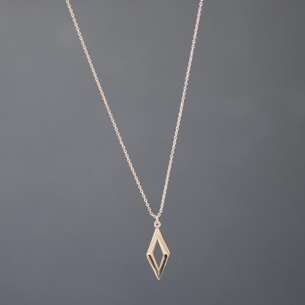 Gold Prizma Uzun Kolye