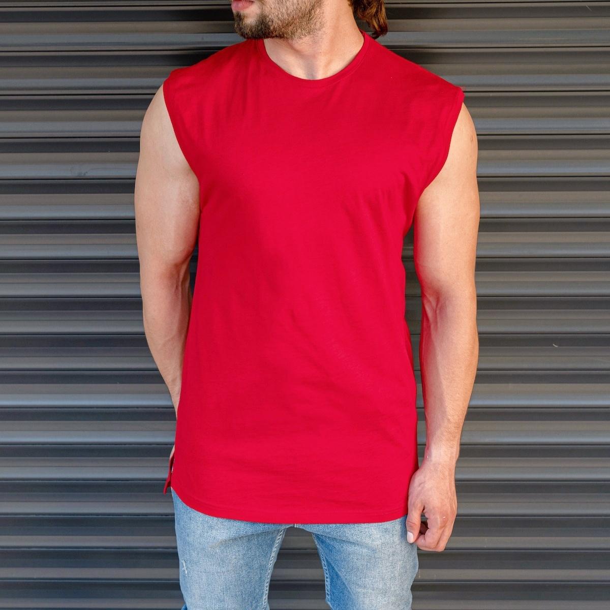 Erkek Basic Regular Kolsuz Kırmızı Tişört