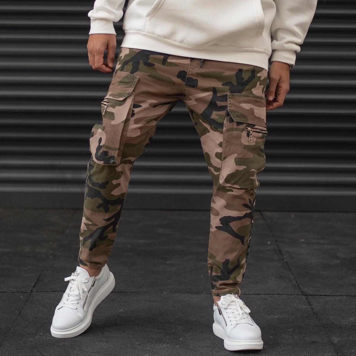 Erkek Kamuflaj Desenli Paçası Lastikli Pantolon