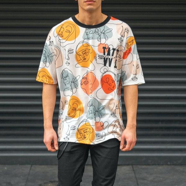Erkek Oversize Baskılı T-Shirt
