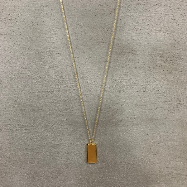 Gold Madalyon Uzun Kolye