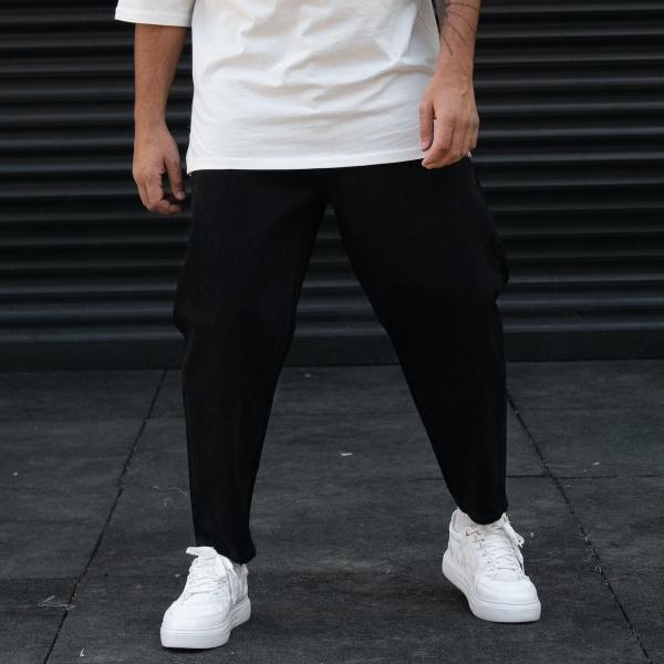 Erkek Oversize Kot Pantolon...