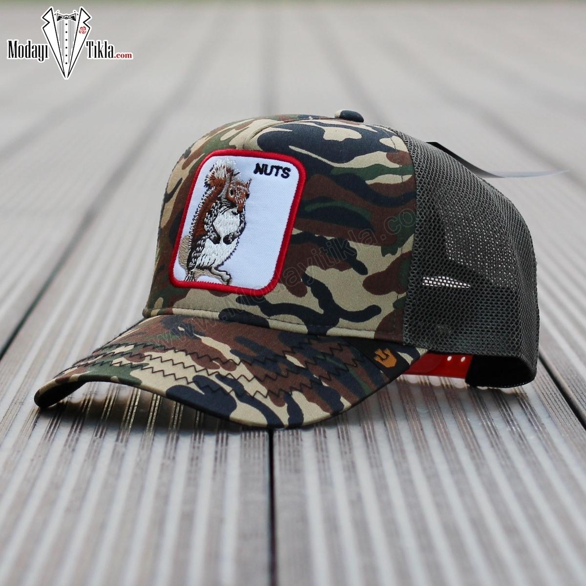 İthal Goorin Bros Nuts Kamuflajlı Şapka