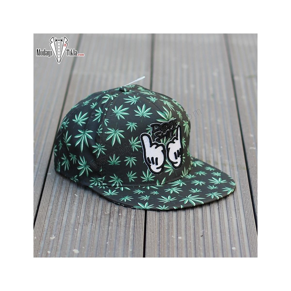 Erkek Dope Shit Siyah Yeşil Şapka