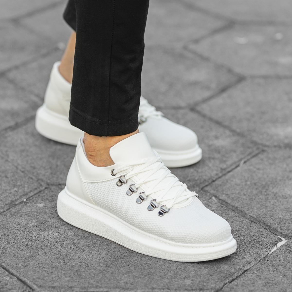 Italian Sport  Beyaz Yüksek Taban Erkek Ayakkabı