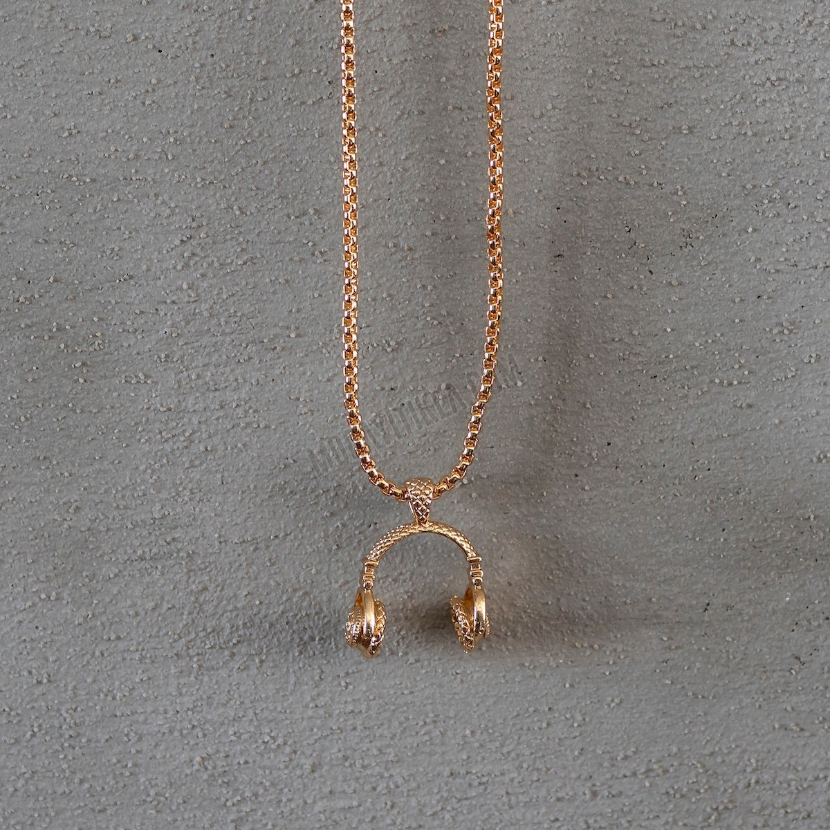 Gold Headphone Uzun Kolye