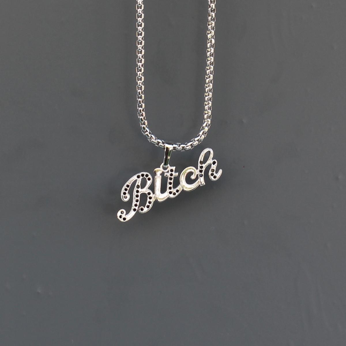Silver Bitch Uzun Kolye