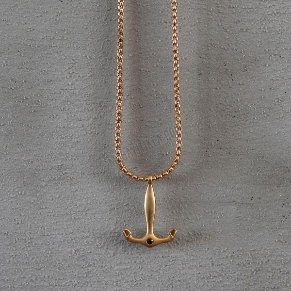 Gold Anchor Uzun Kolye
