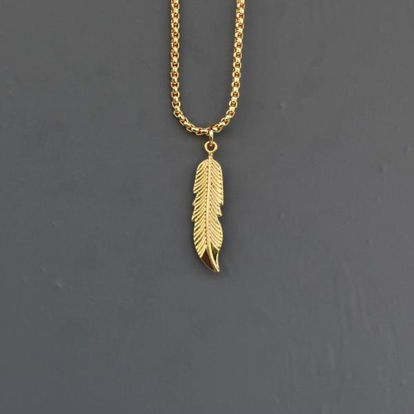 Gold Feather Uzun Kolye