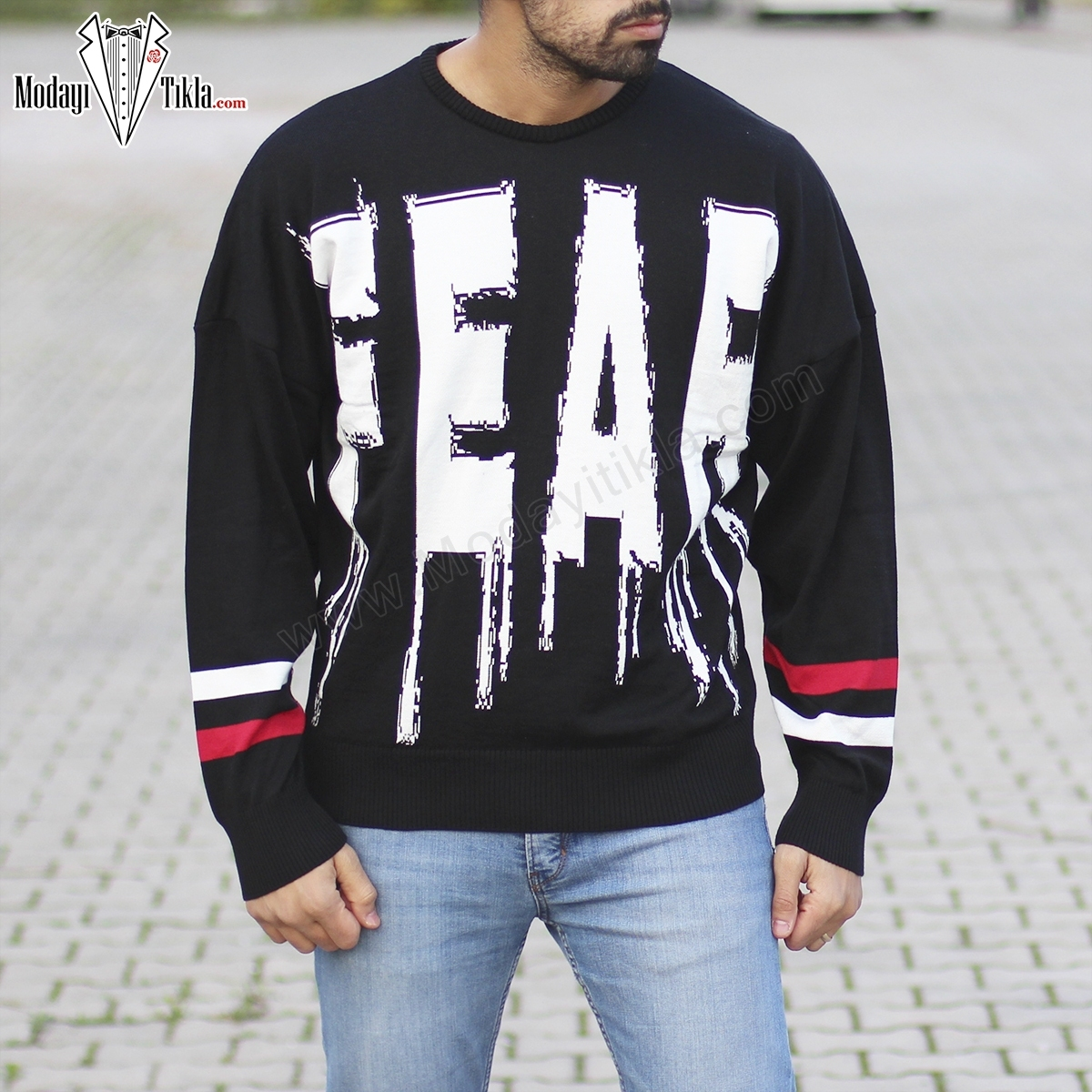 Erkek Fear Siyah Kazak