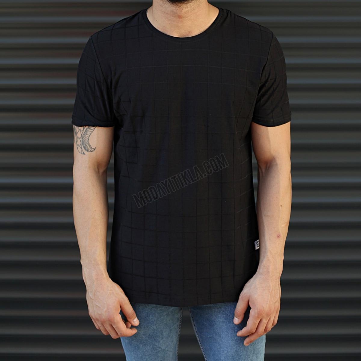 Erkek Basic Muscle Fit Uzun Tişört Siyah