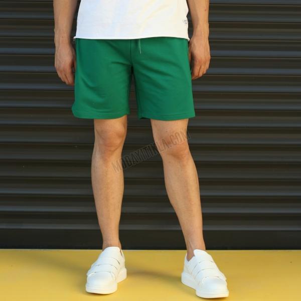 Erkek Sport Polar Yeşil Şort